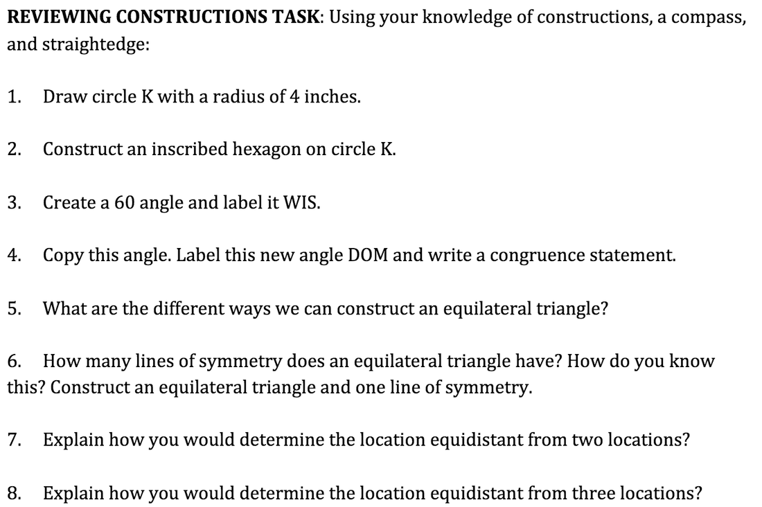 worksheet Geometry Construction Worksheet 1 constructions congruence katherines classroom picture